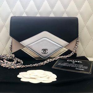Chanel Limited Edition Chevron WOC Envelop Flap
